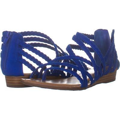 Carlos By Carlos Santana Amara 2 Braided Strap Sandals 764, Corfu Blue, 8 US /