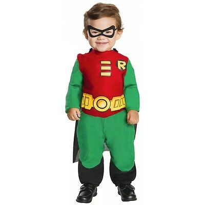 Batman Baby Costume (Robin Costume Baby Toddler Batman Superhero Halloween Fancy)