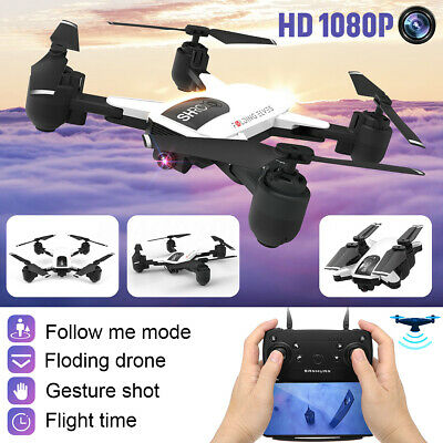 RC Drone Selfie WIFI FPV With 1080P HD Camera Foldable Quadcopter Follow Me UK
