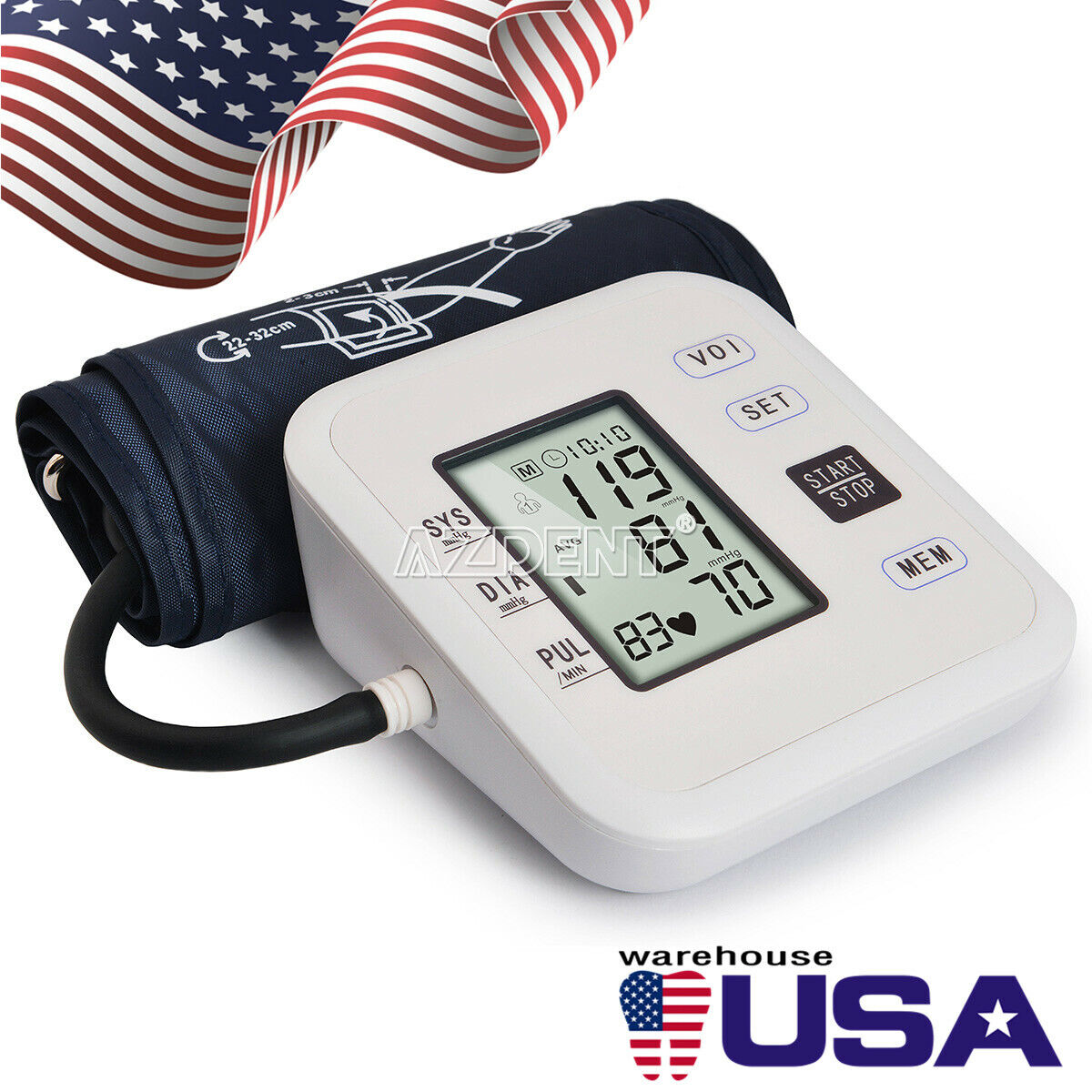 Digital Arm Blood Pressure Monitor Heart Beat Meter Medical