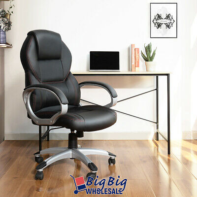 Modern Office Chair High Back Excecutive Leather Computer De