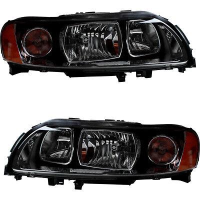 Volvo Headlight - Headlamps Headlights Headlight Assembly (w/Bulb) Pair Set for 05-09 Volvo S60