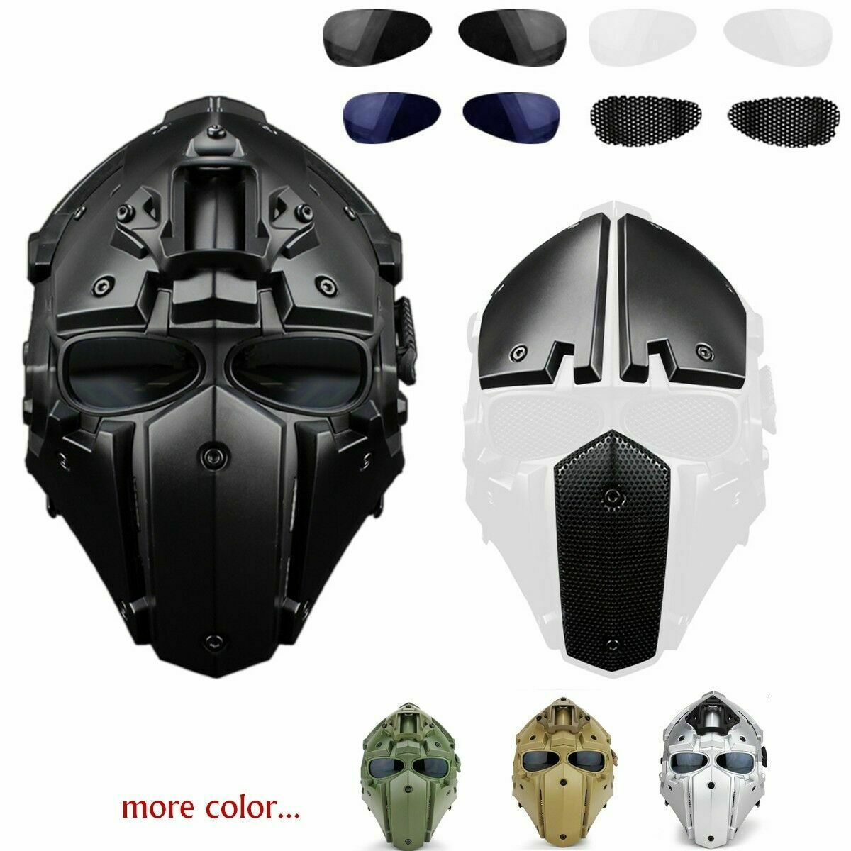 full face hunting protective mask tactical airsoft