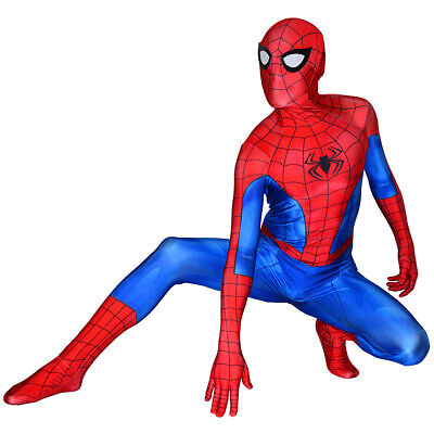 PS4 Classic Spiderman Costume Spandex Spider-Man Cosplay Suit For Adult/Kids](Kids Spandex Suit)