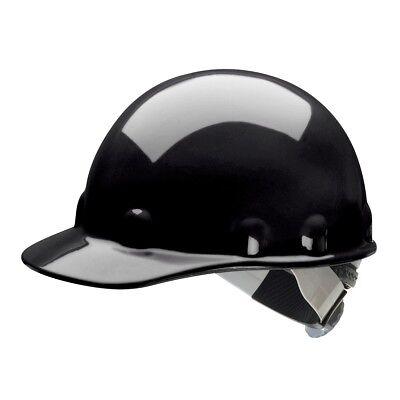 Fibre-Metal Cap Style Hard Hat with SwingStrap Ratchet Suspension, Black (Metal Cap Style Hard Hat)