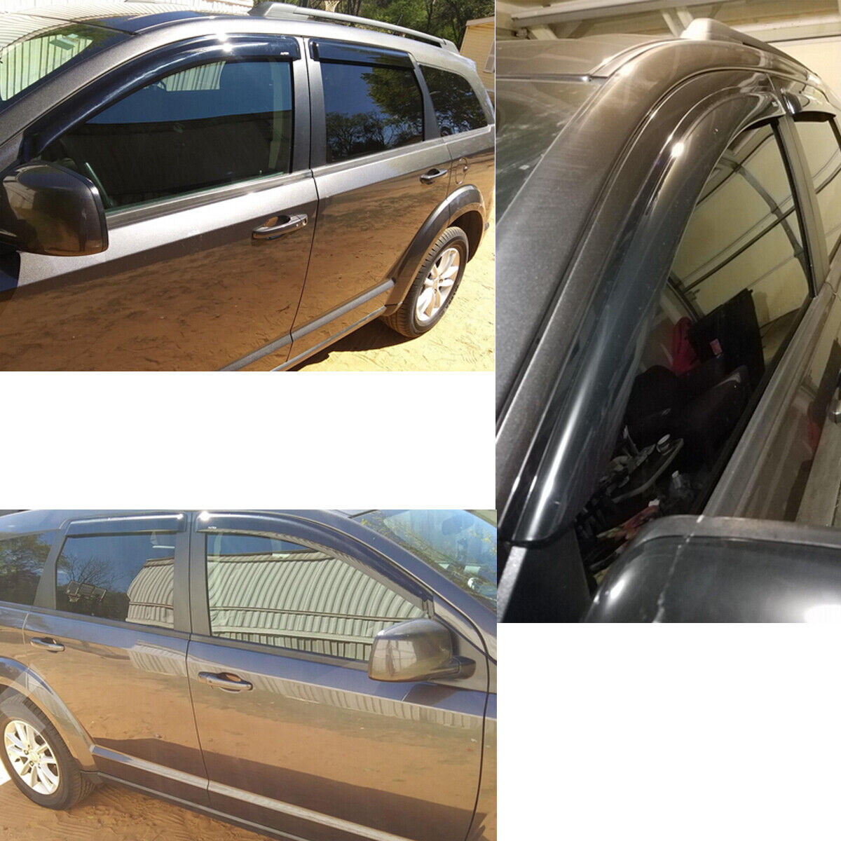 For 2008-2019 Dodge Journey Window Visors Sun Rain Guards