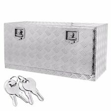 36 Aluminum Truck Underbody Tool Box Trailer RV Tool Storage Under Bed w/Lock