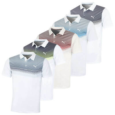 Puma Golf Mens Road Map dryCELL Stretch Polo Shirt Top 47% OFF RRP