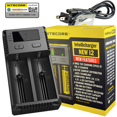 NITECORE New i2 2016 Intellicharger Li-ion Ni-MH Smart Charger 2 Slot 18650