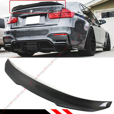 For 2015-18 BMW F80 M3 & 12-18 F30 Carbon Fiber PSM Duckbill Trunk Spoiler Wing