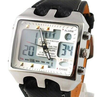 Wrist Watches For Men Big Face Analog Digital Quartz Watch On Sale Cheap