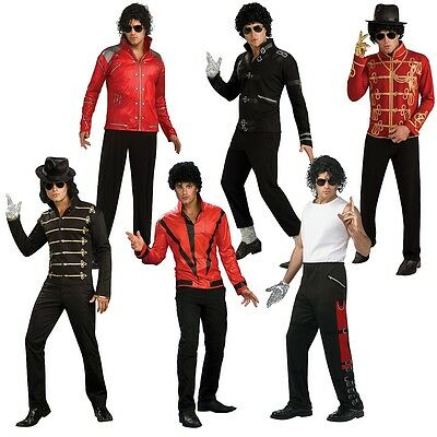 Michael Jackson Costume Adult 80s Pop Star Halloween Fancy Dress
