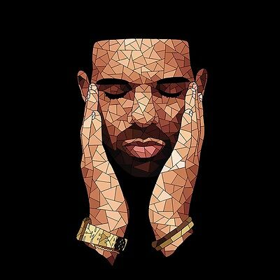 Drake Poster Rap Hip Hop Artist poster wall decoration photo print 24x24 inches