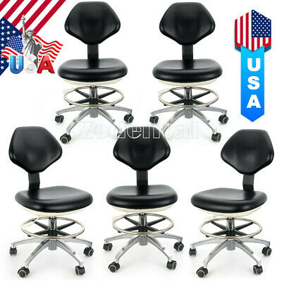 5 Ajustable Dental Assistant Doctors Stools Adjustable Height Mobile Chairs