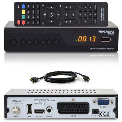 FULL HDTV Digital SAT Receiver MEGASAT HD 390 DVB-S2 1080p USB Scart HDMI Kabel - 390 Usb