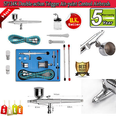 Airbrush Trigger Air-paint Gun Airbrush Kit Double-action Control Needle Art Set