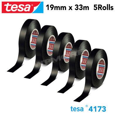 Tesa 4173 Pv2 Soft Pvc Film Wire Tape With Acrylic Adhesive 19mm X 33m - 5 Rolls