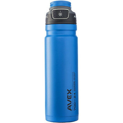 Avex 24 oz. FreeFlow Autoseal Stainless Steel Water Bottle - Blue