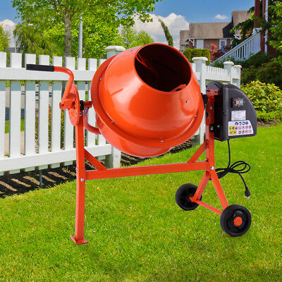 Electric Portable Vertical 2-15cuft Concrete Mortar Cement Stucco Mixer
