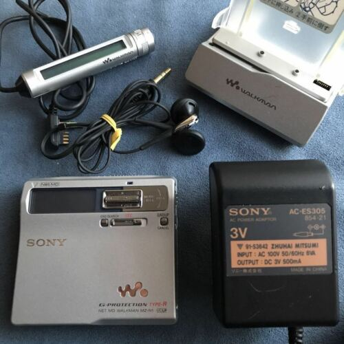 Sony MZ-N1 MD Walkman MiniDisc Player Silver Tested Working Good