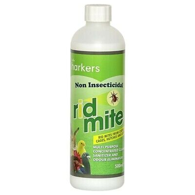 Harkers Ridmite, 500ML. Anti Mite for Coops, Bird Cages, Hutches, & Pigeon Lofts