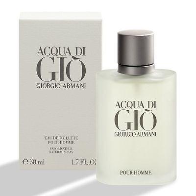 ACQUA DI GIO GIORGIO ARMANI Eau de Toilette Pour Homme 50ml 1.7oz new & sealed
