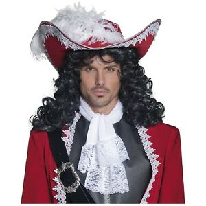 Pirate Hat Adult Captain Hook Costume Halloween Fancy Dress