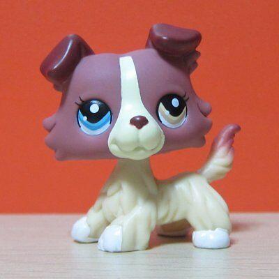 Littlest Pet Shop Collection LPS #1262 Plum Cream Collie Puppy Dog Toys