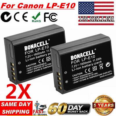 2x LP-E10 LPE10 Camera Battery For Canon Rebel T3 T5 T6 EOS 1100D 1200D 1300D UB E10 Digital Camera Battery
