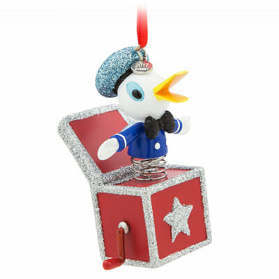 NEW Disney Store Donald Duck Sketchbook Christmas Ornament - Vintage Toy Series