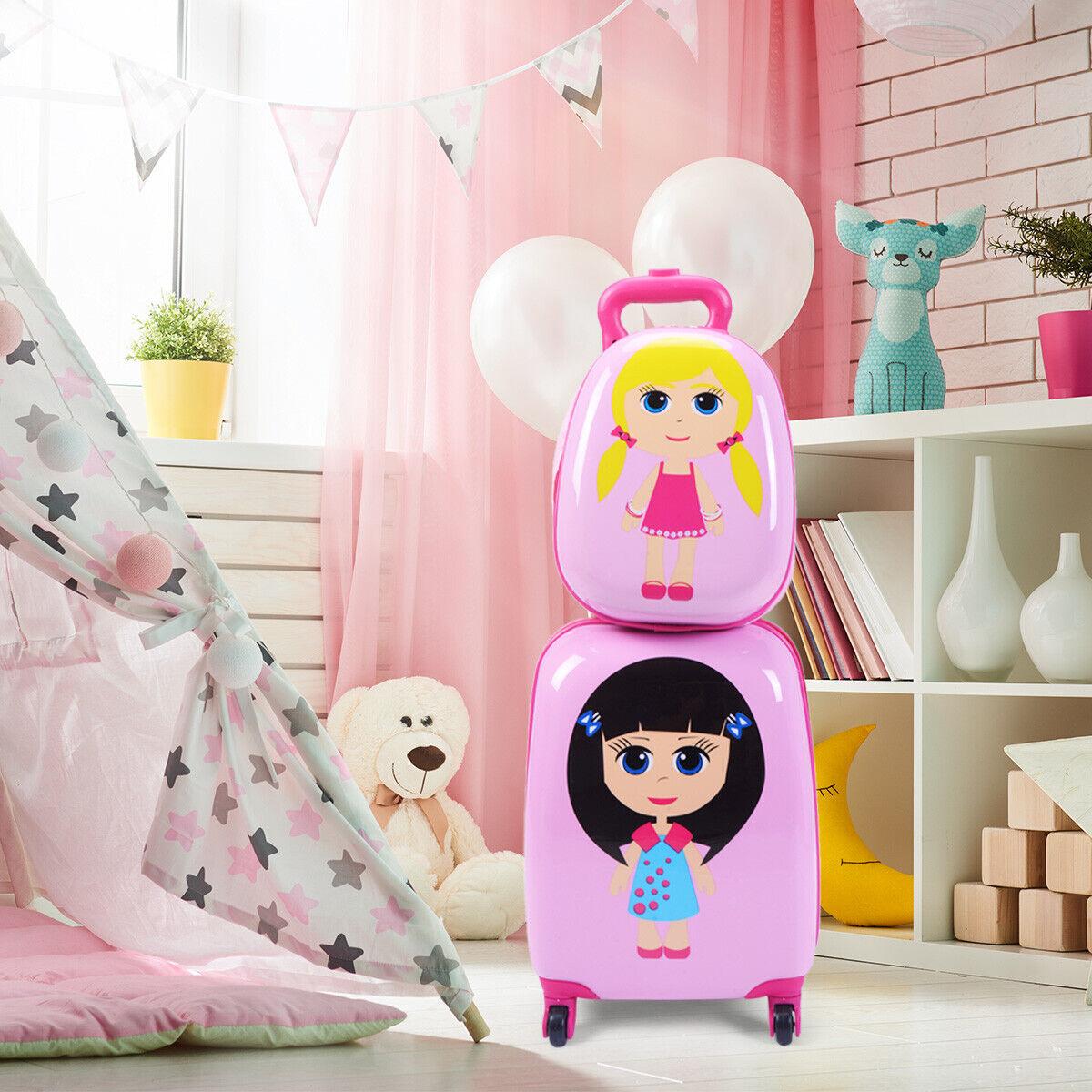 2tlg Kinderkoffer + Rucksack Kofferset Kindergepäck Reisegepäck Kindertrolley