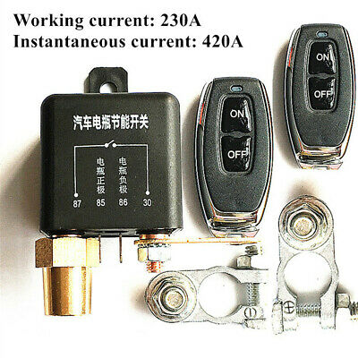Car Wireless Dual Remotes Control Battery Switch Disconnect Master Kill Switch