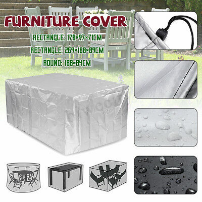 - Waterproof Outdoor Stacking Furniture Cover Dustproof Garden Patio Table Chairs