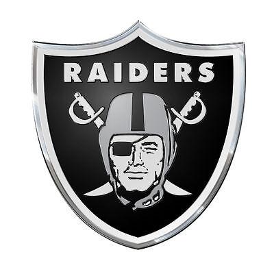 Oakland Raiders Color Emblem Sticker Decal Aluminum Metal Car Truck Auto