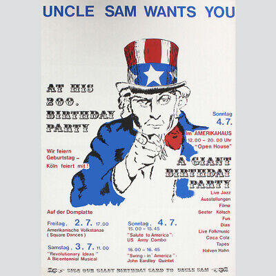 Uncle Sam wants you. At his 200. Birthday Party. ()