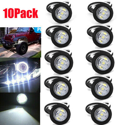 10 White DC 12V Eagle Eye LED Daytime Running DRL Backup Light Car Rock Lamp