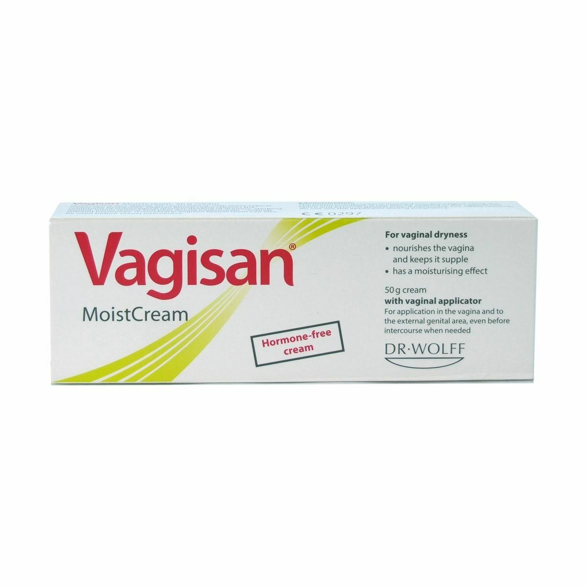 Where to apply external vaginal cream