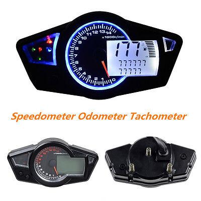 Multi-Function LCD Motorcycle Odometer Speedometer Tachometer Gauge 15000 RPM