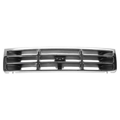 Grille Grill Chrome & Silver Front for Ford Bronco F150 F350 F250 Pickup Truck