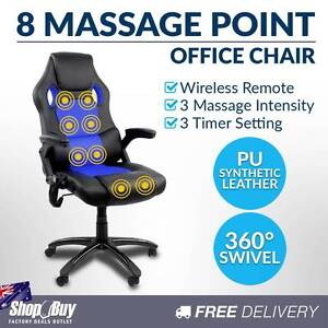 Free Delivery: Executive Office Computer Chair 8 Point Massage H Moorebank Liverpool Area Preview