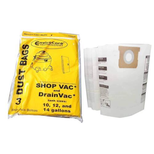Shop Vac 9066200, 90662, 770SW 10, 12, 14 Gallon Vacuum Wet Dry3 Paper Bags