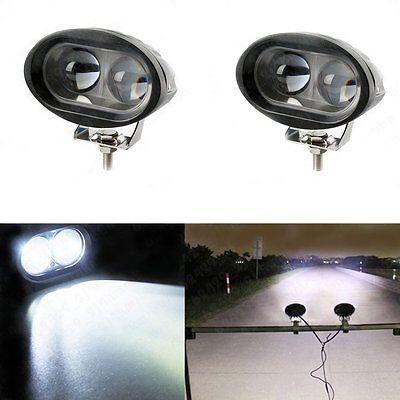 2x 20W CREE LED White Car Truck SUV 4WD Driving Spot Beam Light Bar Lamp 12V 24V
