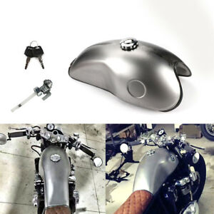 Cafe Racer Motorcycle Gas Fuel Tank Iron 10L 2.6 Gallon for Suzuki Yamaha Honda