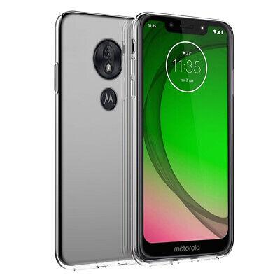 For Motorola Moto G7 Play Crystal Clear Ultra Slim Soft TPU Gel Phone Case Cover