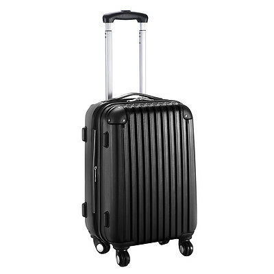 Купить Unbranded - GLOBALWAY 20 Expandable ABS Carry On Luggage Travel Bag Trolley Suitcase Black
