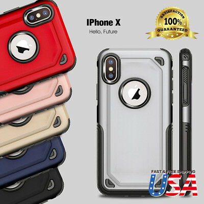 (iPhone X Slim Dual Layer Protective Anti-slip Shockproof Anti-Scratch Cover Case)