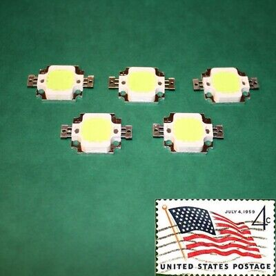 5x 10w Green High Power Led Flood Light Grow Lamp Smd Chip 9v Usa