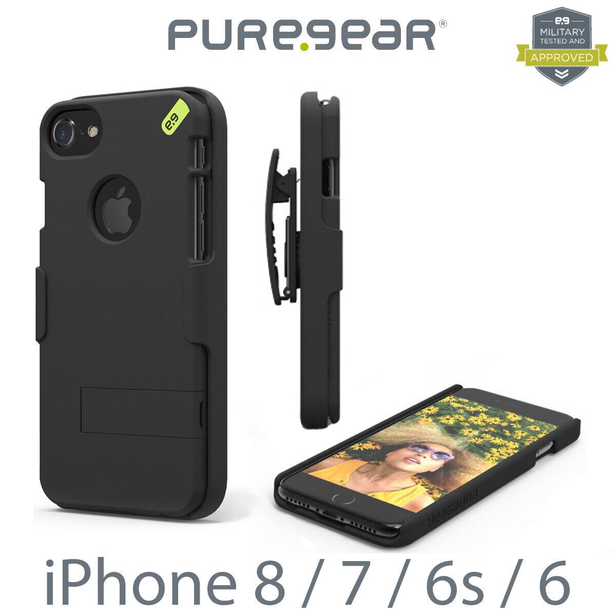 PureGear Hip Case Combo Holster Credit Card Slot iPhone 8 / 7