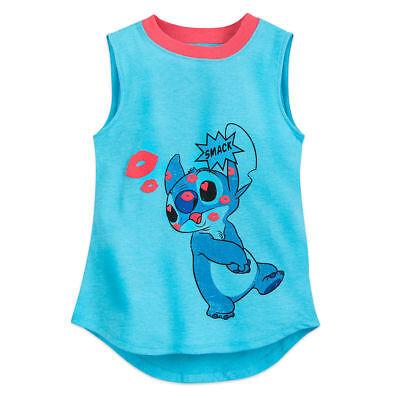 Disney Store Lilo & Stitch Tank Top T Shirt Tee Kids Size 2/3 4 5/6 7/8 10/12  - Top Kids Stores