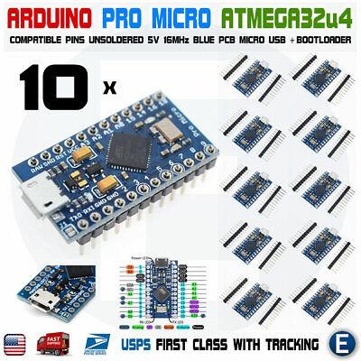 10pcs Arduino Pro Micro Atmega32u4 5v 16mhz Replace Atmega328 Pro Mini Leonardo